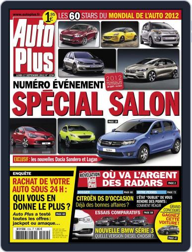 Auto Plus France September 18th, 2012 Digital Back Issue Cover