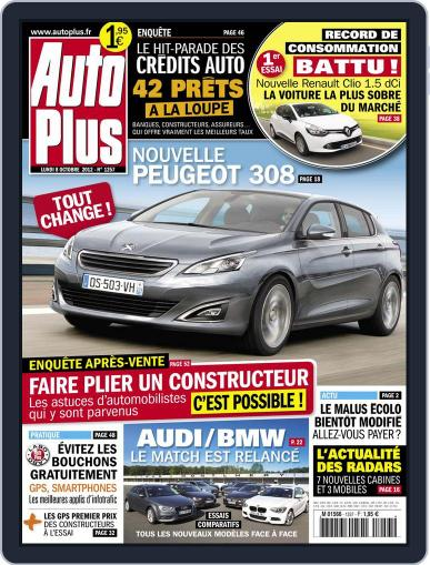Auto Plus France (Digital) October 8th, 2012 Issue Cover