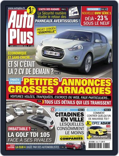 Auto Plus France (Digital) November 12th, 2012 Issue Cover