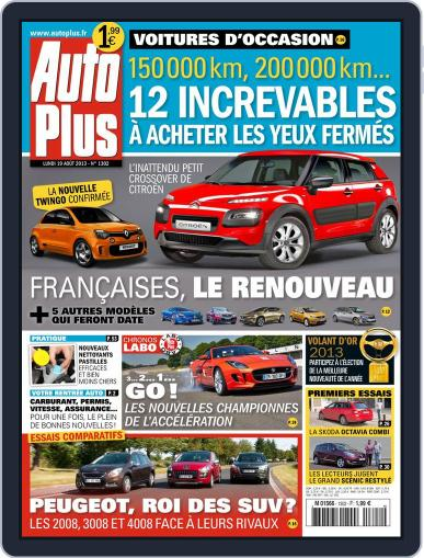Auto Plus France August 18th, 2013 Digital Back Issue Cover