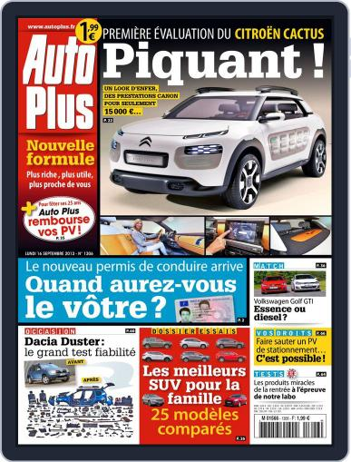 Auto Plus France (Digital) September 15th, 2013 Issue Cover