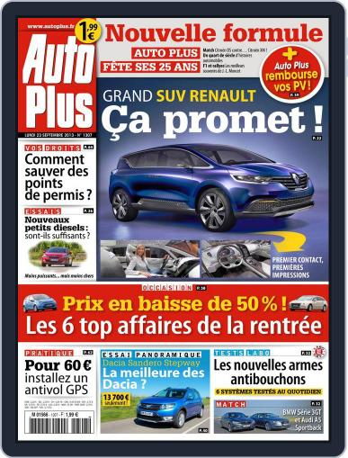 Auto Plus France September 22nd, 2013 Digital Back Issue Cover