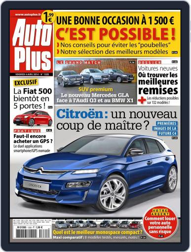 Auto Plus France April 3rd, 2014 Digital Back Issue Cover