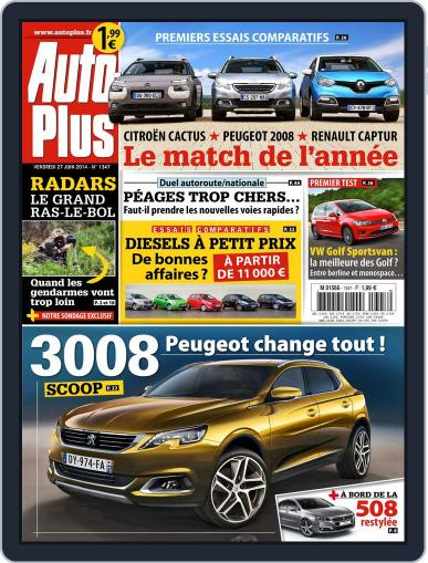 Auto Plus France (Digital) June 27th, 2014 Issue Cover