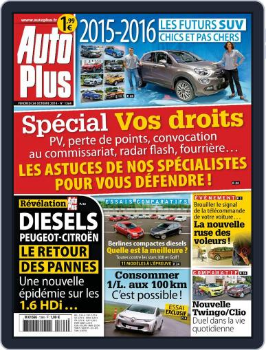 Auto Plus France (Digital) October 24th, 2014 Issue Cover