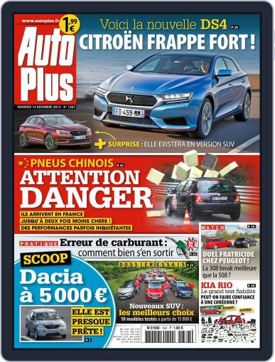 Auto Plus France (Digital) November 14th, 2014 Issue Cover