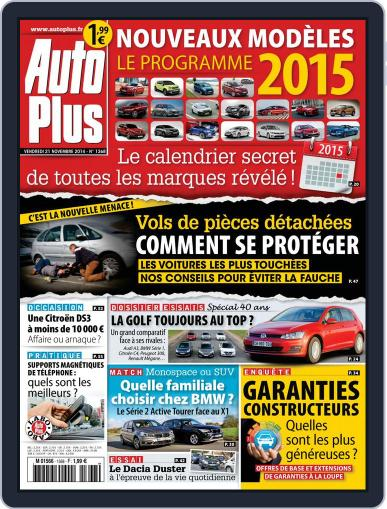 Auto Plus France (Digital) November 21st, 2014 Issue Cover