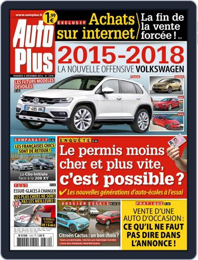 Auto Plus France (Digital) December 4th, 2014 Issue Cover