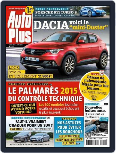Auto Plus France April 2nd, 2015 Digital Back Issue Cover