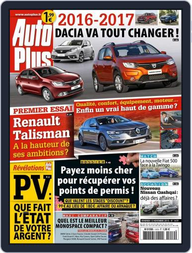 Auto Plus France (Digital) November 13th, 2015 Issue Cover