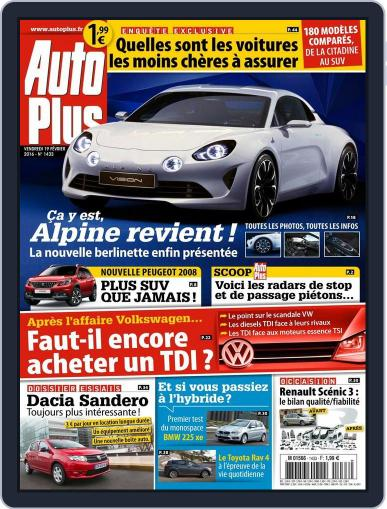 Auto Plus France February 19th, 2016 Digital Back Issue Cover