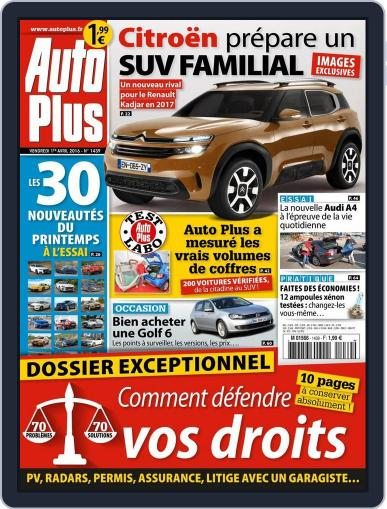 Auto Plus France (Digital) April 1st, 2016 Issue Cover