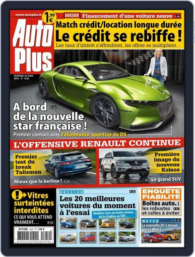 Auto Plus France April 22nd, 2016 Digital Back Issue Cover