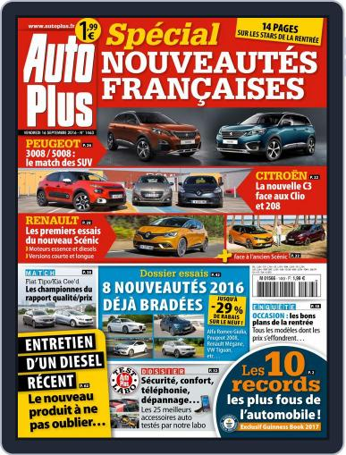 Auto Plus France (Digital) September 16th, 2016 Issue Cover