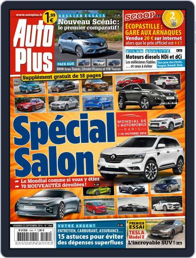 Auto Plus France (Digital) September 23rd, 2016 Issue Cover