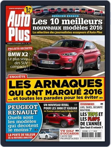 Auto Plus France December 23rd, 2016 Digital Back Issue Cover
