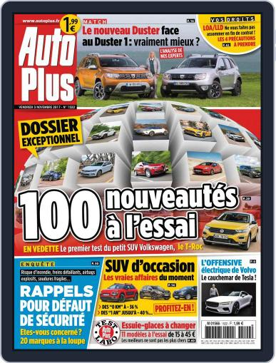 Auto Plus France (Digital) November 3rd, 2017 Issue Cover