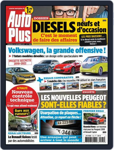 Auto Plus France (Digital) November 24th, 2017 Issue Cover