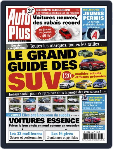 Auto Plus France (Digital) August 24th, 2018 Issue Cover
