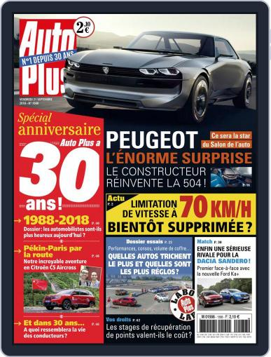 Auto Plus France (Digital) September 21st, 2018 Issue Cover