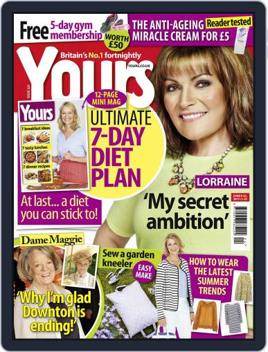 Yours June 9th, 2015 Digital Back Issue Cover