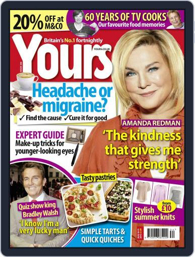 Yours August 18th, 2015 Digital Back Issue Cover