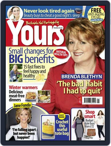 Yours (Digital) February 2nd, 2016 Issue Cover