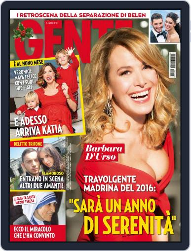Gente January 5th, 2016 Digital Back Issue Cover