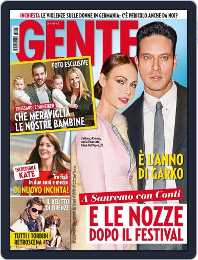 Gente (Digital) January 26th, 2016 Issue Cover