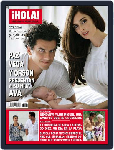 Hola (Digital) August 19th, 2009 Issue Cover