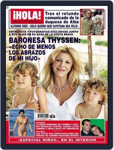 Hola (Digital) September 9th, 2009 Issue Cover
