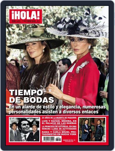 Hola (Digital) September 30th, 2009 Issue Cover