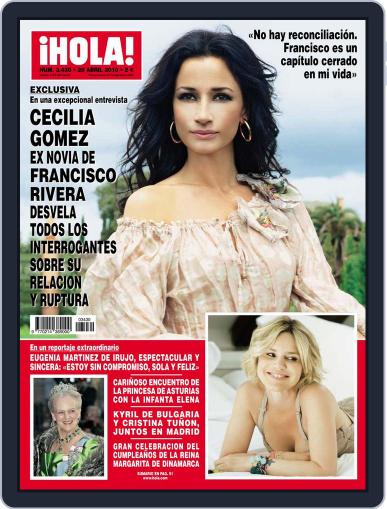 Hola (Digital) April 21st, 2010 Issue Cover