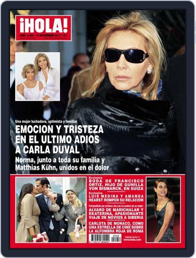 Hola (Digital) November 3rd, 2010 Issue Cover