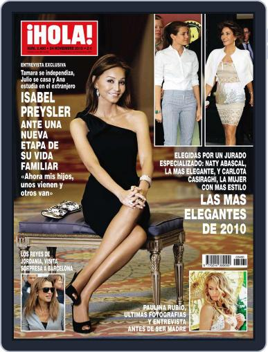 Hola (Digital) November 17th, 2010 Issue Cover
