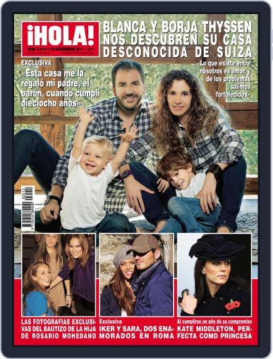 Hola (Digital) November 16th, 2011 Issue Cover