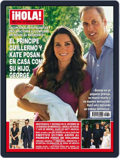 Hola (Digital) August 21st, 2013 Issue Cover
