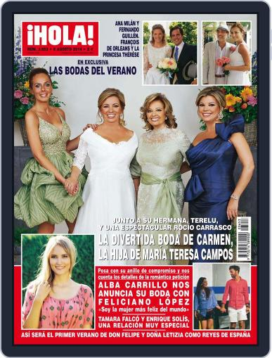 Hola (Digital) July 30th, 2014 Issue Cover