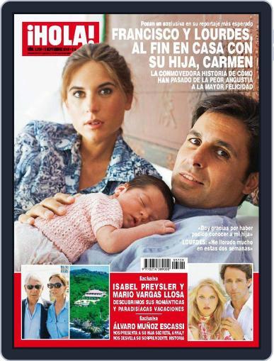 Hola (Digital) September 2nd, 2015 Issue Cover