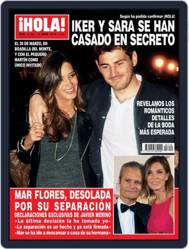 Hola (Digital) March 30th, 2016 Issue Cover