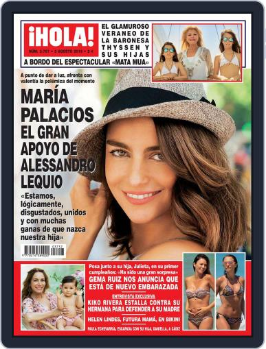Hola (Digital) July 27th, 2016 Issue Cover