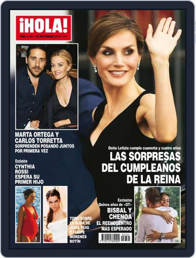 Hola (Digital) September 28th, 2016 Issue Cover