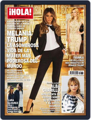 Hola (Digital) November 23rd, 2016 Issue Cover