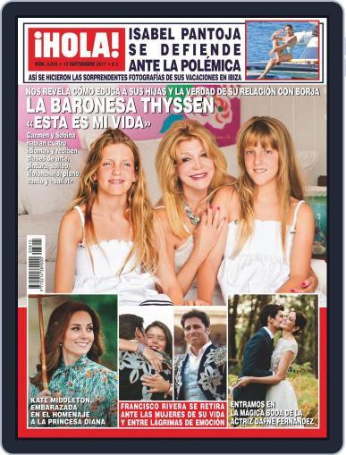 Hola (Digital) September 13th, 2017 Issue Cover