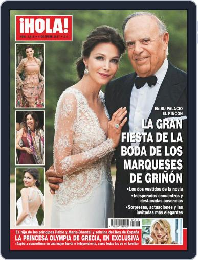 Hola (Digital) October 4th, 2017 Issue Cover