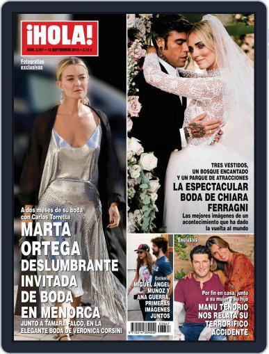 Hola (Digital) September 12th, 2018 Issue Cover