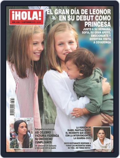 Hola (Digital) September 19th, 2018 Issue Cover
