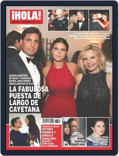 Hola (Digital) September 26th, 2018 Issue Cover