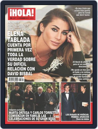 Hola (Digital) November 21st, 2018 Issue Cover