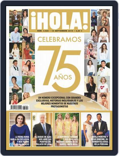 Hola (Digital) September 18th, 2019 Issue Cover